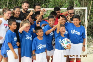 Thumbs up from the Cristo Rey soccer team.